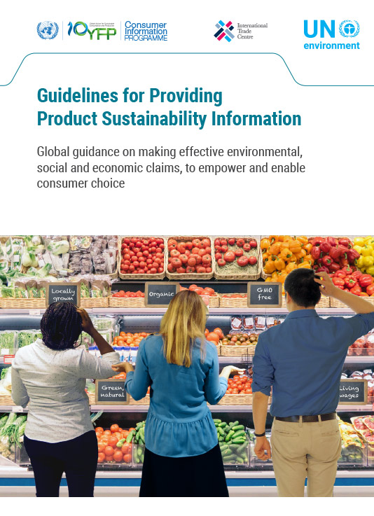 guidelines for providing product sustainability information