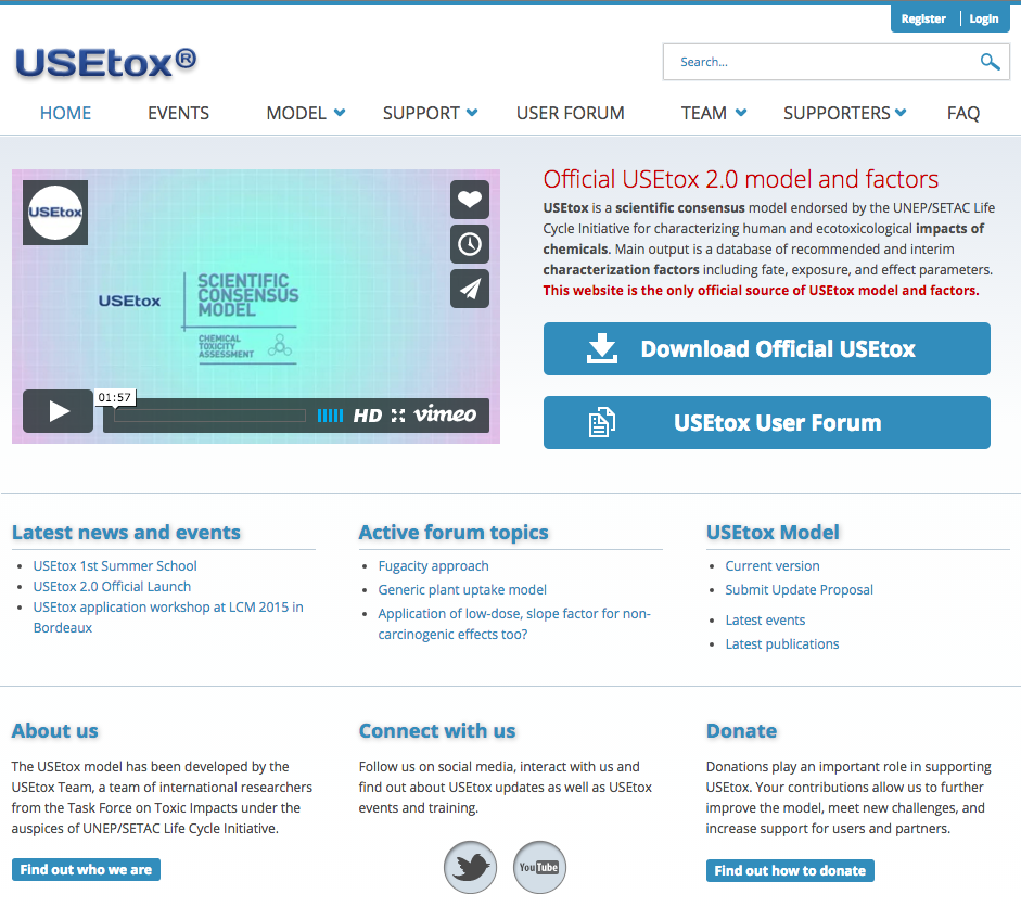 USEtox home page